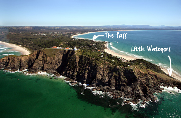 Cape Byron arial image